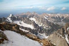 Высокое Tatras на Tatranska Lomnica Стоковое Изображение RF