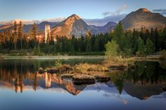 Высокое Tatras - Strbske Pleso Стоковая Фотография RF