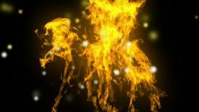 Высокой детальной огонь сопрягаемый альфой иллюстрация вектора
