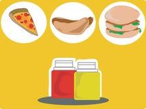 Высококалорийная вредная пища 2 Стоковое фото RF
