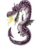 Высококачественная иллюстрация талисмана дракона, крышки, предпосылки, обоев иллюстрация вектора