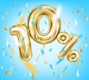 Высококачественное изображение воздушного шара золота 10 процентов иллюстрация штока