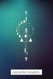 Высококачественные геометрические элементы геометрия священнейшая Стоковое фото RF