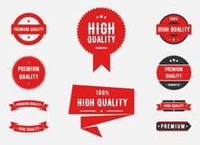 Высококачественные и наградные знаки качества иллюстрация вектора