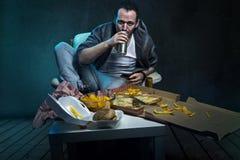 Высококалорийная вредная пища стоковые изображения