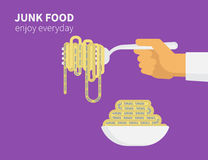 Высококалорийная вредная пища Стоковая Фотография RF