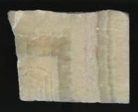 Высокомарочный мрамор Изолировано на черной предпосылке естественным картина камня отполированная отрезком мраморная Стоковая Фотография