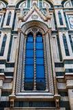 Высокорослое окно на соборе Duomo Флоренса Стоковая Фотография RF