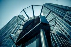 Высокорослые здания highrise в расположенном на окраине города charlotte около blumenthal perf Стоковое Фото