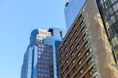 Высокорослые небоскребы дела в сердце Монреаля Стоковые Изображения