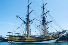 Высокорослый корабль в гавани Стоковое Фото