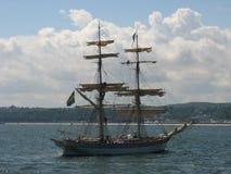 Высокорослый корабль в Гдыня Стоковые Изображения
