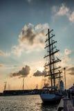 Высокорослая гонка кораблей в гавани Esbjerg, Стоковое Изображение RF