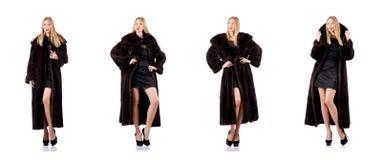 Высокорослая модельная нося меховая шыба Стоковое Фото