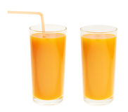 Высокорослое стеклянное вполне оранжевого сока моркови Стоковая Фотография