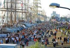 Высокорослые гонки Рига 2013 кораблей Стоковое фото RF