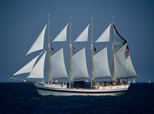 Высокорослый корабль ветреный Стоковая Фотография