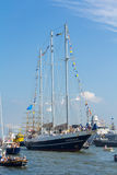 Высокорослый корабль на ВЕТРИЛЕ 2015, портрет Амстердама Нидерландов Стоковое Изображение RF