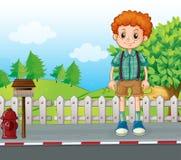 Высокорослый человек стоя на улице иллюстрация штока