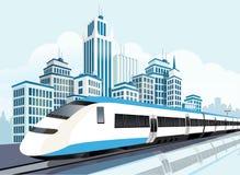 Высокоскоростная железная дорога для будущего образа жизни бесплатная иллюстрация