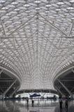 Высокоскоростная железнодорожная крыша вокзала в Китае Стоковое фото RF