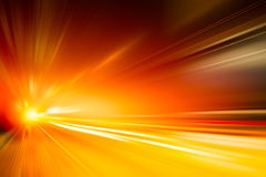 Высокоскоростная концепция дела и технологии, нерезкость движения привода скоростного автомобиля ускорения супер быстрая Стоковое Изображение