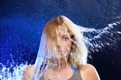 Высокоскоростной выплеск воды стоковые фото