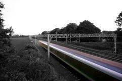 Высокоскоростной конспект пассажирского поезда Стоковое Фото