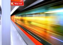 высокоскоростной поезд Стоковое Изображение RF
