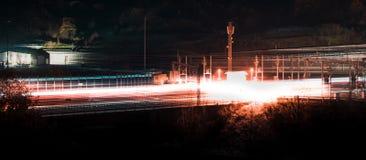 Высокоскоростной поезд-Freccia Rossa бодрствования стоковая фотография