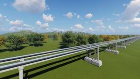 Высокоскоростной поезд maglev на природе сток-видео