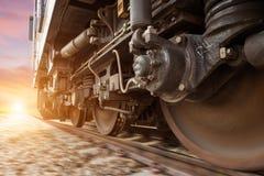 Высокоскоростной тепловозный поезд Стоковое Изображение