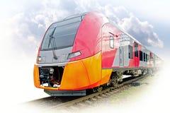 Высокоскоростной электрический железнодорожный поезд стоковая фотография rf