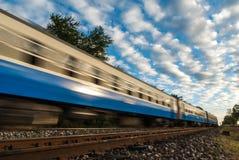 высокоскоростные поезда Стоковая Фотография