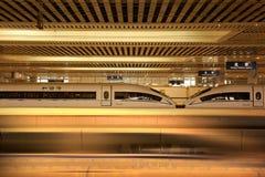 высокоскоростные поезда Стоковое Изображение