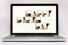высокотехнологичное дня рождения счастливое Стоковое Изображение