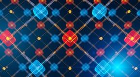 высокотехнологичные сети иллюстрация вектора