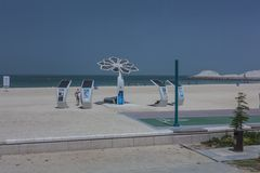 Высокотехнологичный пляж Стоковая Фотография RF