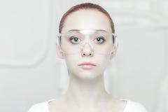 Высокотехнологичный портрет типа Стоковые Изображения