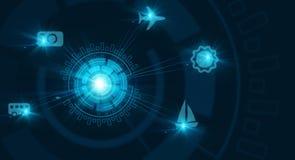Высокотехнологичная голубая предпосылка Стоковые Фотографии RF