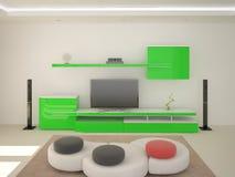 Высокотехнологичная живущая комната Стоковое фото RF