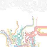 Высокотехнологичная предпосылка конспекта технологии Стоковые Изображения