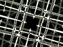 Высокотехнологичная предпосылка решетки Стоковые Изображения