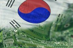 Высокотехнологичная предпосылка Южной Кореи Стоковые Изображения