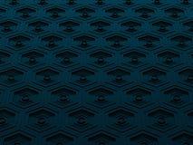 Высокотехнологичная черная и голубая предпосылка шестиугольников бесплатная иллюстрация