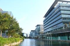 Высокотехнологичные офисы в Гонконге стоковые изображения