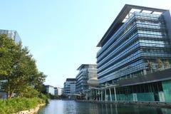 Высокотехнологичные офисы в Гонконге стоковые фотографии rf