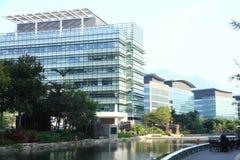 Высокотехнологичные офисы в Гонконге стоковые фото