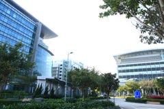 Высокотехнологичные офисы в Гонконге стоковое фото