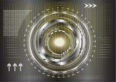 Высокотехнологичный Абстрактная черная и желтая предпосылка бесплатная иллюстрация